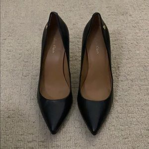 Calvin Klein Black Leather Pumps